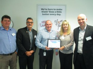 (L to R) Scott McKay, Don Graham, Pat McEntee Countdown CEO, Karen Kelly and Dane Dougan.